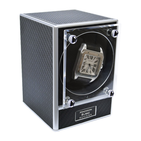 Link Modular Watch Winder // Black + Chrome