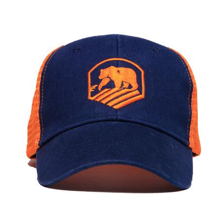 Active Wear Cap // Navy + Orange