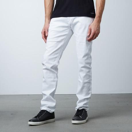 Garment Dyed 5-Pocket Jean // White (30WX30L)