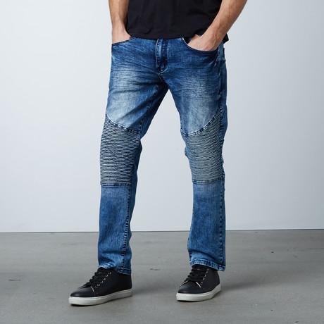 Panel Moto Jean // Blue (30WX30L)