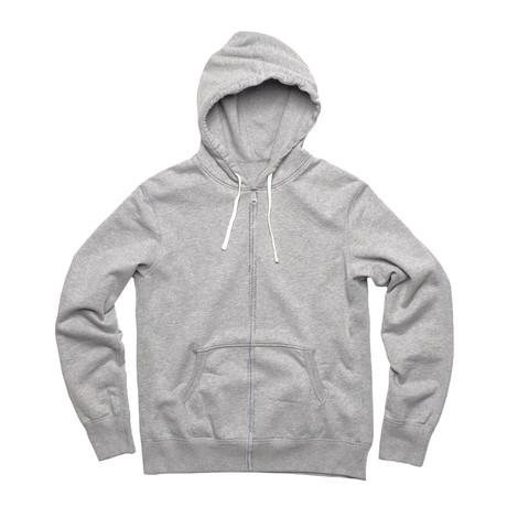 Fashion Fit Zip Hoody // Gray Mix (S)