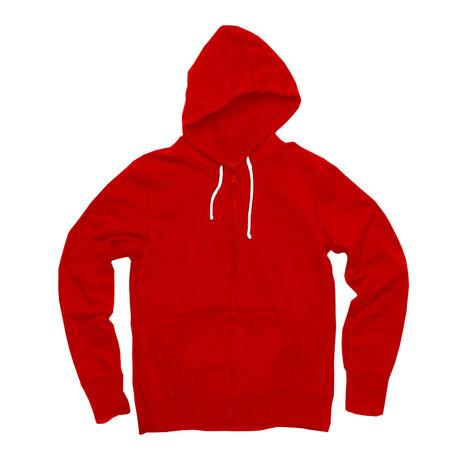 Zip Hoody // Red (S)