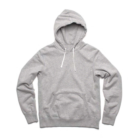 French Terry Pullover Hoody // Gray Mix (S)