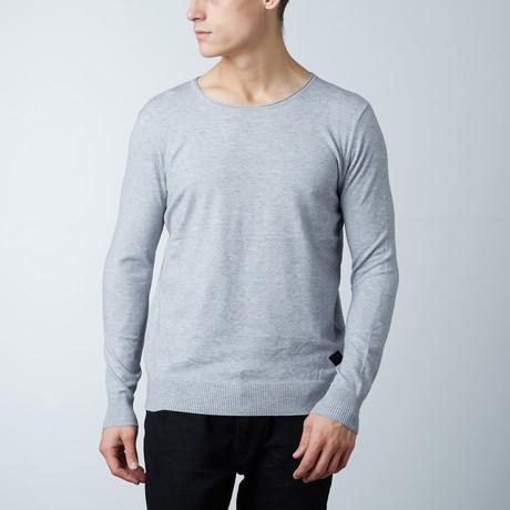 Crew Neck Layering Sweater // Light Grey (S)