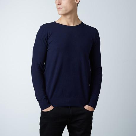 Crew Neck Layering Sweater // Navy (S)