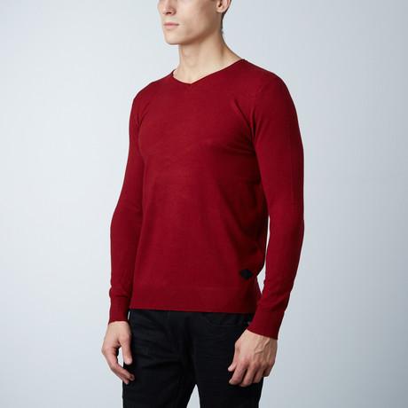 V-Neck Layering Sweater // Burgundy (S)