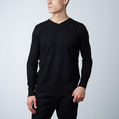 V-Neck Layering Sweater // Black (S)
