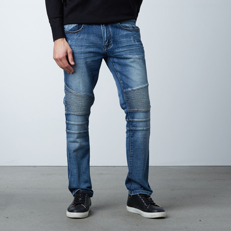 Core Moto Jean // Medium Blue (30WX30L)