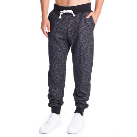 Fashion Sweat Pant // Black Space Dye (S)