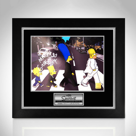 Simpsons // Hand-Signed Photo // Custom Frame 1