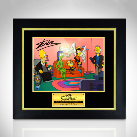 Simpsons // Stan Lee // Hand-Signed Photo // Custom Frame 2