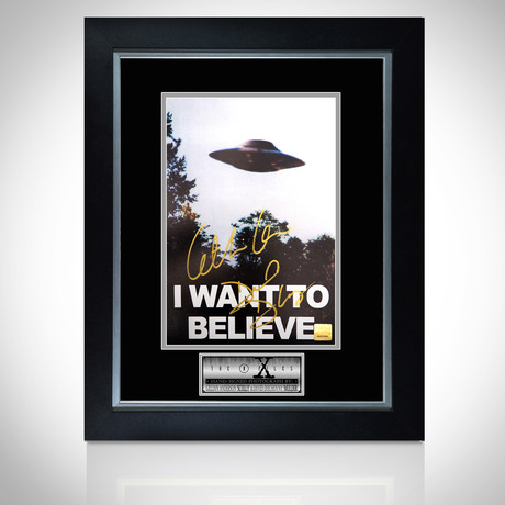X-Files // Hand-Signed Photo // Custom Frame