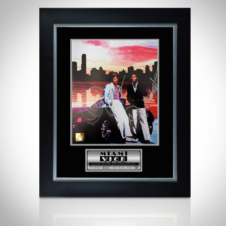Miami Vice // Hand-Signed Photo // Custom Frame