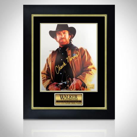 Walker, Texas Ranger // Hand-Signed Photo // Custom Frame