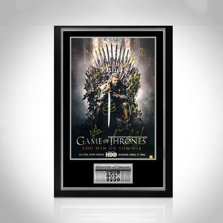 Game Of Thrones // Cast Hand-Signed Poster // Custom Frame 1