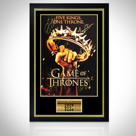 Game Of Thrones // Cast Hand-Signed Poster // Custom Frame 2
