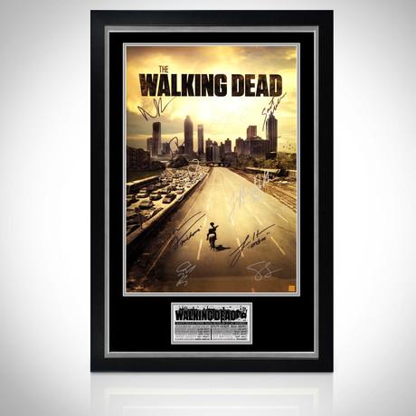 Walking Dead // Cast Hand-Signed Poster // Custom Frame 1