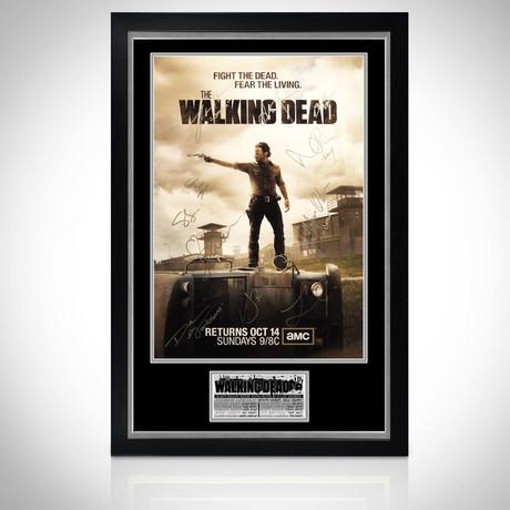 Walking Dead // Cast Hand-Signed Poster // Custom Frame 2