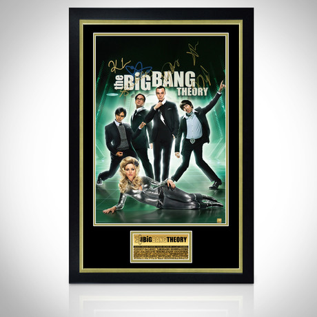 Big Bang Theory // Cast Hand-Signed Poster // Custom Frame 1