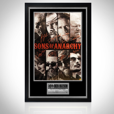Sons Of Anarchy // Cast Hand-Signed Poster // Custom Frame 1