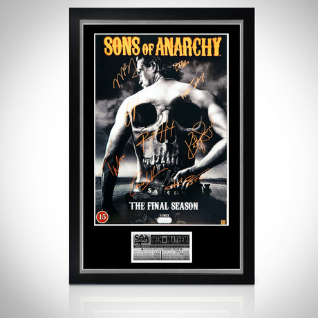 Sons Of Anarchy // Cast Hand-Signed Poster // Custom Frame 2