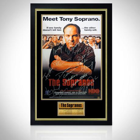 Sopranos // Cast Hand-Signed Poster // Custom Frame 1