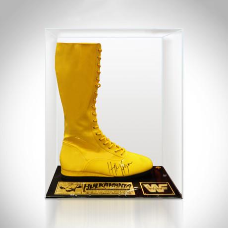 Hulk Hogan // Hand Signed Boot // Museum Display