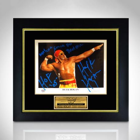 Hulk Hogan // Hand-Signed Photo // Custom Frame