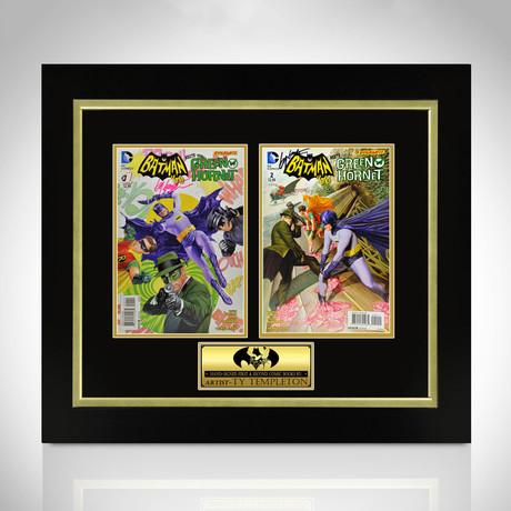Batman + Green Hornet // Signed Comic Book // Custom Frame