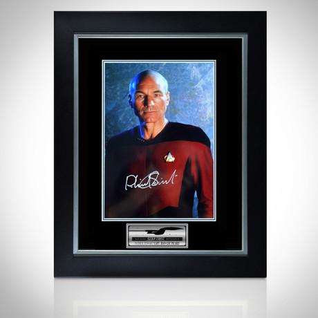 Star Trek // Hand-Signed Captain Jean Luc Picard Photo // Custom Frame 4