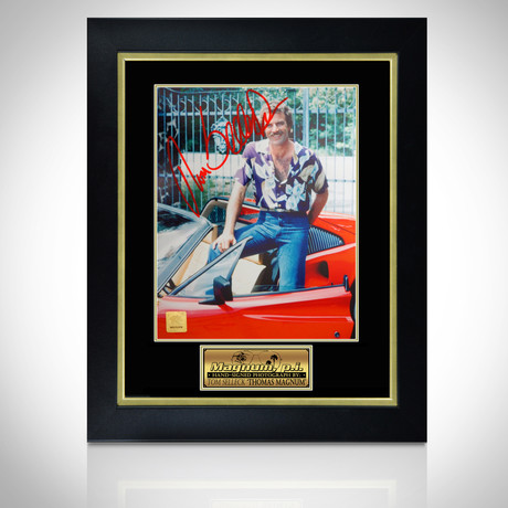 Magnum Pi // Hand-Signed Photo // Custom Frame