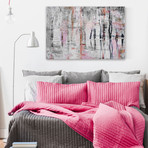 "Pink Fog Painting Print // Canvas (18""W x 12""H x 1.5""D)"
