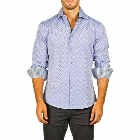Long-Sleeve Button-Up Shirt // Blue Gray