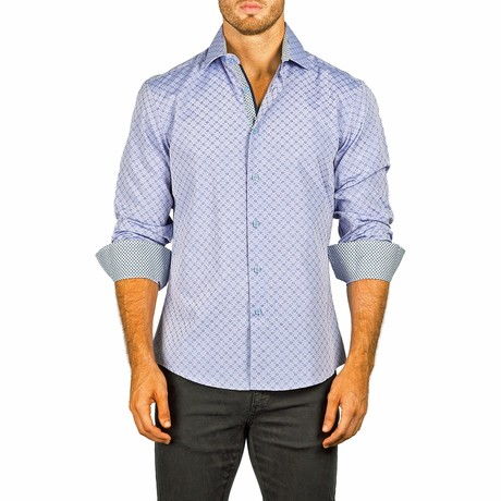 Long-Sleeve Button-Up Shirt // Blue Gray (XS)