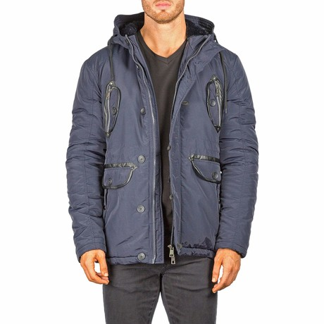 Hooded Jacket // Navy (XS)