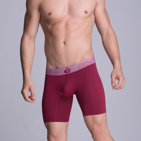 Long Full Mesh Boxer // Red Wine (S)
