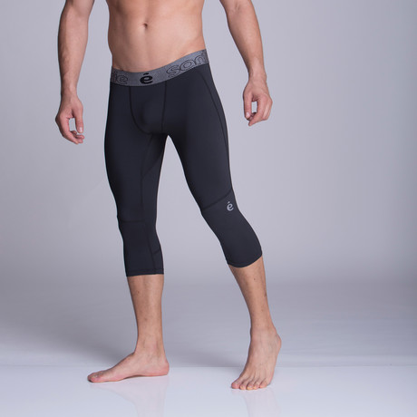 Capris Athletic Pants // Black (S)