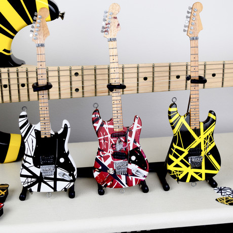 Officially Licenced EVH Set of 3 Eddie Van Halen Mini Guitar Replica Collectibles