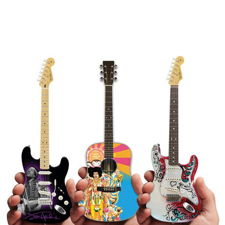 Jimi Hendrix Mini Guitar + Bonus Strat // Set of 3