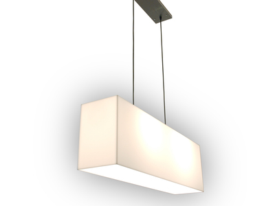 Photo of Gus* Modern Mid Century-Inspired Modern Furniture White Acrylic Hanging Lamp by Touch Of Modern