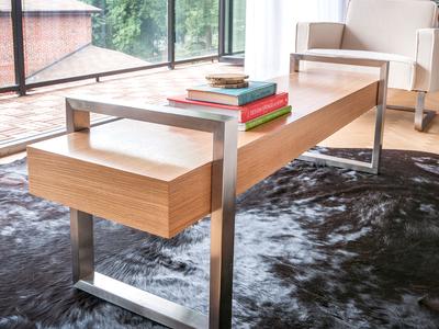 Photo of Gus* Modern Mid Century-Inspired Modern Furniture Return Bench (Oak Black) by Touch Of Modern