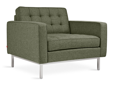 Photo of Gus* Modern Mid Century-Inspired Modern Furniture Spencer Chair // Stainless Steel Base (Parliament Stone) by Touch Of Modern