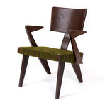 Spanner Lounge Chair (Dark Birch + Green)