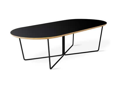 Photo of Gus* Modern Mid Century-Inspired Modern Furniture Array Oval Coffee Table (Black Powder Coat) by Touch Of Modern