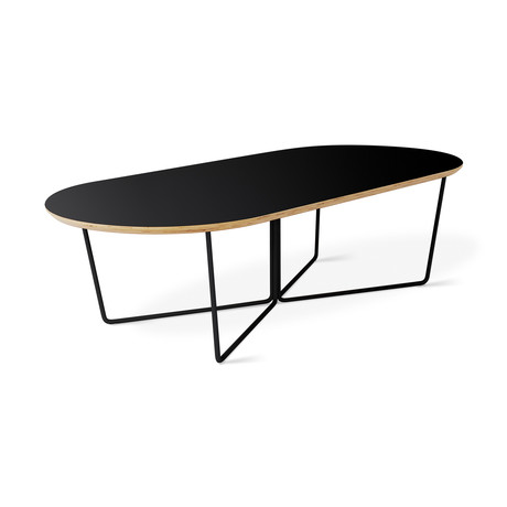 Array Oval Coffee Table (Black Powder Coat)