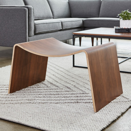 Wave Stool // Walnut