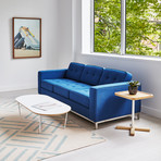 Jane Sofa // Stainless Steel Base (Stockholm Cobalt)