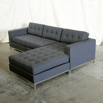 Jane Bi-Sectional // Stainless Steel Base (Stockholm Cobalt)