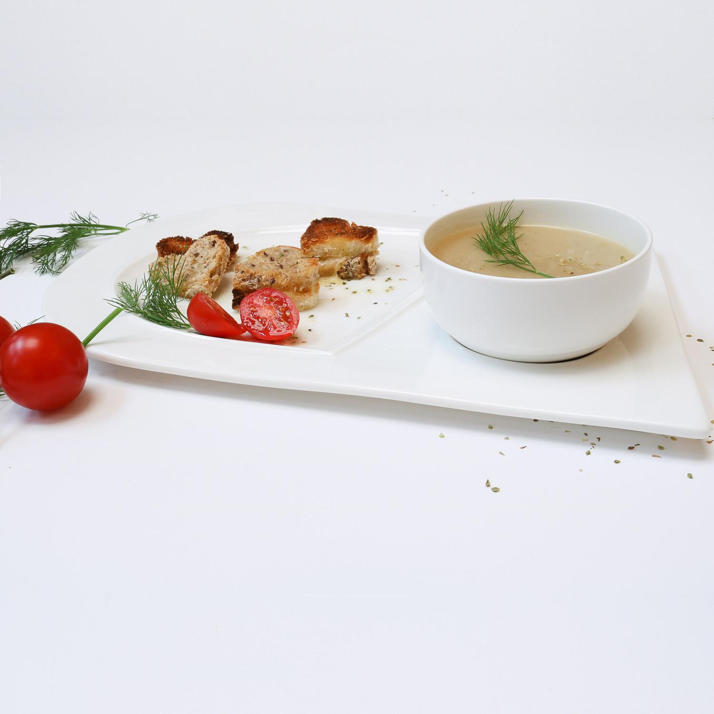 Soup Bowl + Sandwich Plate Set // Set of 4  sc 1 st  Touch of Modern & Soup Bowl + Sandwich Plate Set // Set of 4 - Little White Dish ...