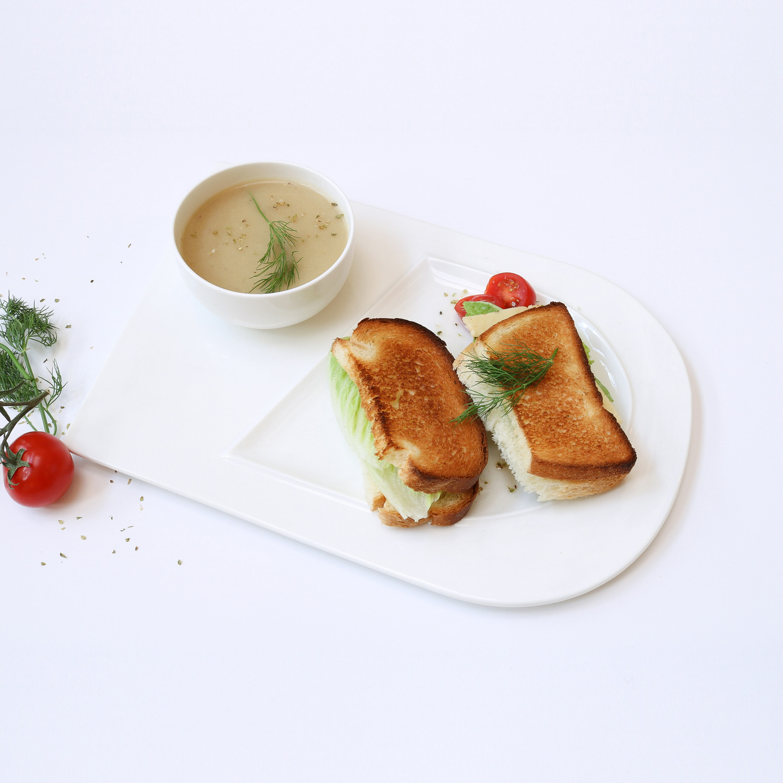 Soup Bowl + Sandwich Plate Set // Set of 4 & Soup Bowl + Sandwich Plate Set // Set of 4 - Little White Dish ...